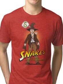 Snakes, why did it have to be snakes? (Alt) Tri-blend T-Shirt