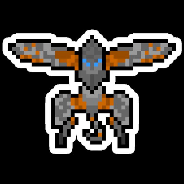 Pixel Metal Gear Ray Sticker by PixelBlock