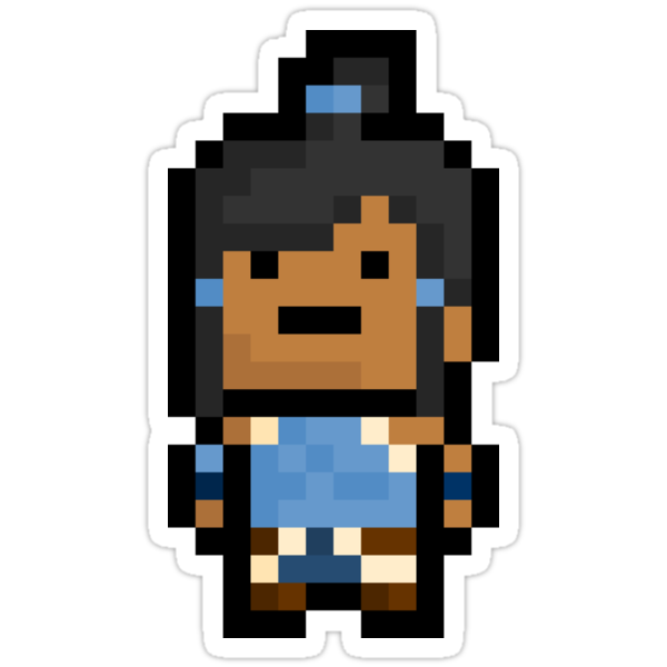 Pixel Korra The Avatar Sticker by PixelBlock