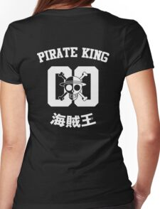 """One Piece Monkey D. Luffy """"Pirate King"""" Shirt White Version Womens Fitted T-Shirt"""