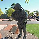 Pearl Diver statue, Broome by Margaret  Hyde