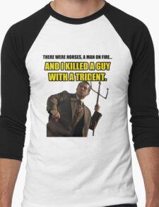 Brick trident Men's Baseball ¾ T-Shirt