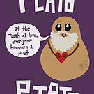 Plato Potato {Sticker} by geeksweetie