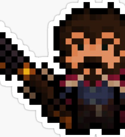 Pixel-Gunslinger Graves Sticker