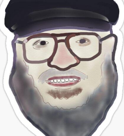 George R.R. Martin Face Sticker Sticker