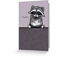 Raccoon Cute Thank You Card Greeting Card