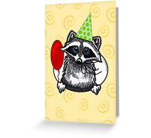 Raccoon Funny Birthday Card Greeting Card