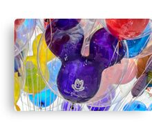 Mickey Mouse balloon with reflection Canvas Print