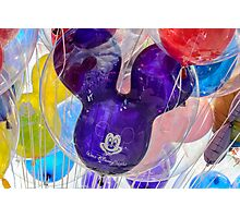 Mickey Mouse balloon with reflection Photographic Print