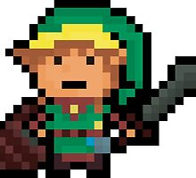 Link, Hyrule's Pixel Guardian by Pixel-League