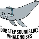Dubstep Whale Sticker by Lorren Francis