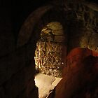 Conisbrough Castle Stairway by Audrey Clarke