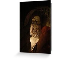 Conisbrough Castle Stairway Greeting Card