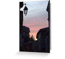 Street Light at Sunset Greeting Card