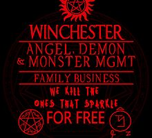 Winchester Family Business - (Sticker Only) by whitmore55
