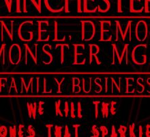 Winchester Family Business - (Sticker Only) Sticker