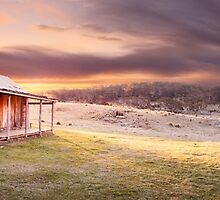 David Brayshaws Hut, Namadgi National Park, ACT, Australia by Michael Boniwell