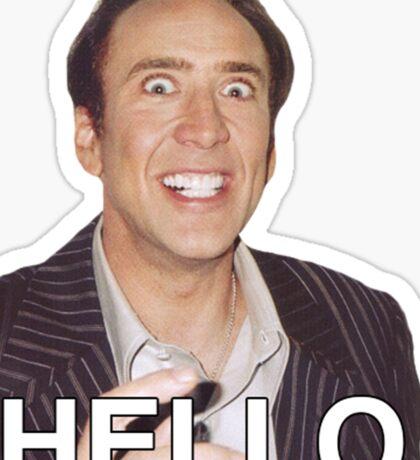 Nicolas Cage - HELLO Sticker Sticker