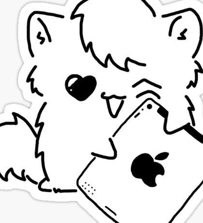 Kitty Loves iDevices! (sticker) Sticker