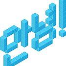 8-bit Annyeong! (Cyan Sticker) by 9thDesignRgmt
