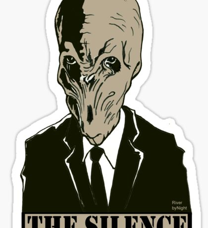 The Silence - Dr. Who Sticker