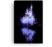 Cinderella's Castle - Blue w/reflection Canvas Print