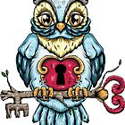 Owl With Key by Creep Heart
