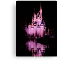 Cinderella's Castle - Pink w/reflection Canvas Print