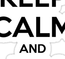 Keep Calm and Jam On Decal Sticker