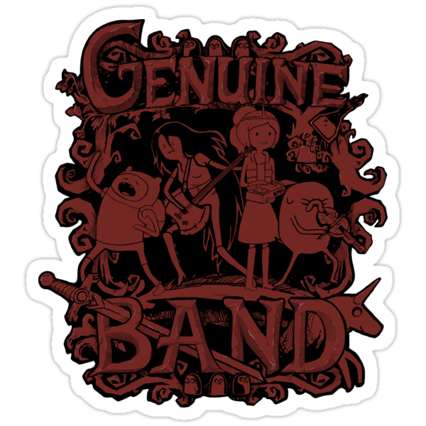 Genuine Band STICKER by tyna