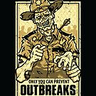 Outbreak Prevention - STICKER by WinterArtwork