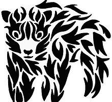 Tribal Bear Design by ouiouiouwha