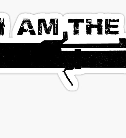 I Am The Law! Sticker