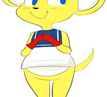 diddy kong racing pipsy mouse by chinchillafais