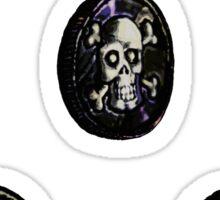 Pirate Coins Heads Up Sticker