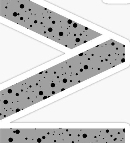 Cement splatter Roman numeral 4 sticker Sticker