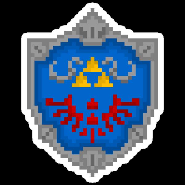 """Pixel Hylian Shield - """"Legend Of Zelda"""" by PixelBlock"""