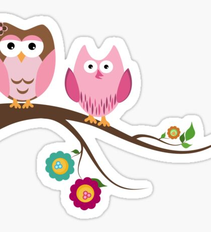 Couple owls Sticker