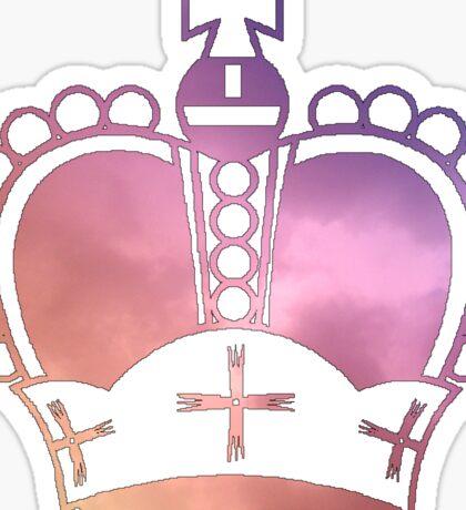 Rainbow Crown Sticker Sticker