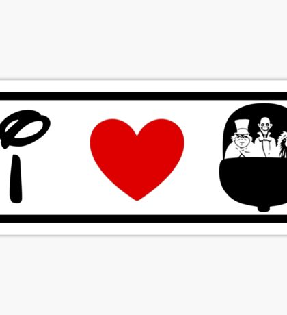 I Heart Haunted Mansion (Classic Logo) Sticker