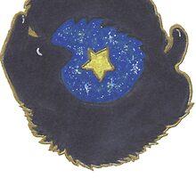 Starry Cat - Black Cat by Felix Keigh