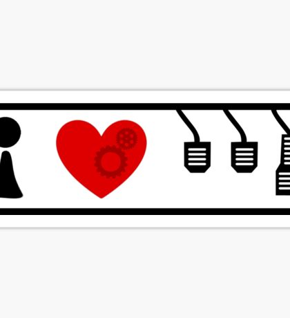 I Love Driving Manuals (Large) Sticker