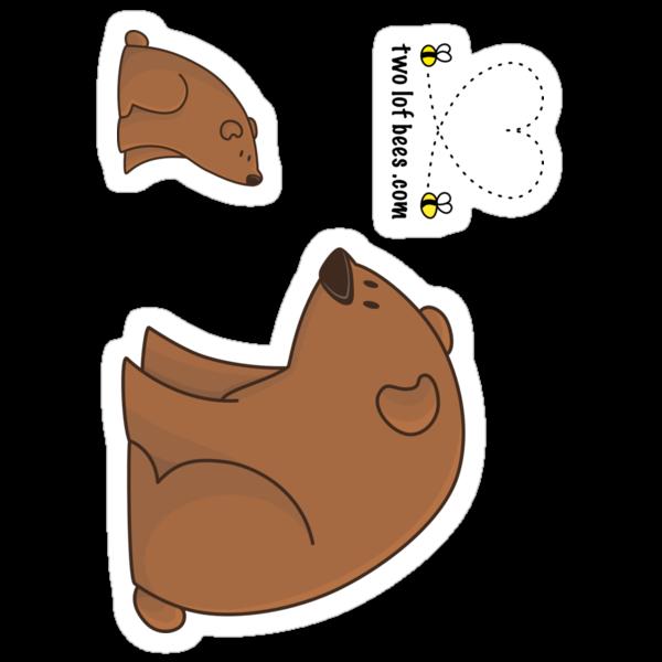 Big Bear and Little Bear (stickers) by Josh Bush