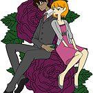 Jenny and Micah sticker by ladydove