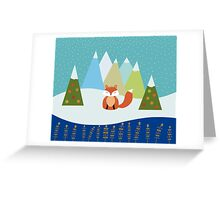 Fox Illustration - Christmas Tree Greeting Card