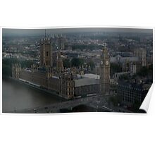 Houses Of Parliament, River Thames, London Poster