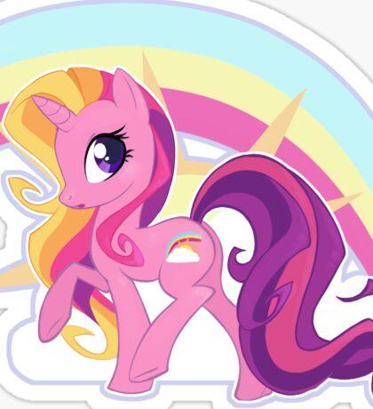 Rainbow Flash w/ Bg Sticker