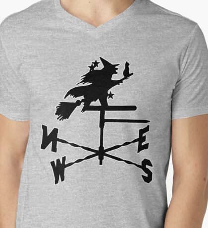 Witch Way T-Shirt Mens V-Neck T-Shirt