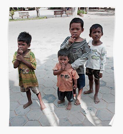Cambodian Kids Poster
