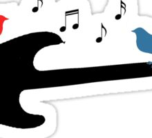 Birds, Singing on a Guitar Sticker
